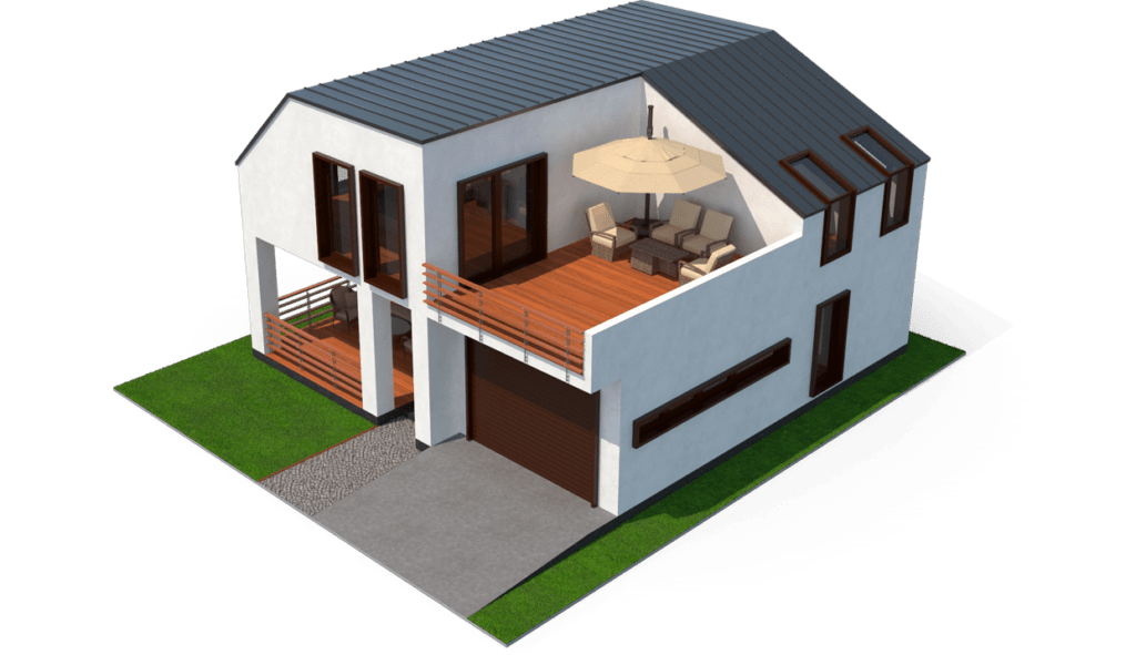 Terrasse en Bois 3D